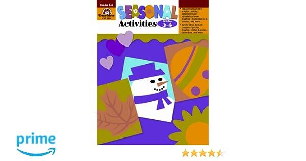 Seasonal Activities, Grades 3-5: Evan Moor: 0234720200482: Amazon ...