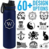 Tempercraft 22oz Vacuum Insulated Sport Bottle Custom Engraved, Blue Deal (Small Image)