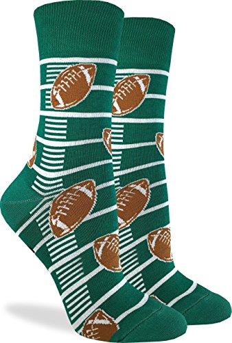 Good Luck Sock Women's Football Socks - Green, Adult Shoe Size 5-9