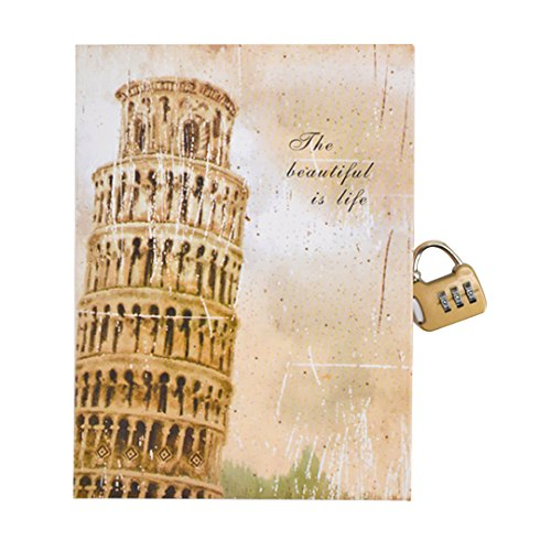 Monique A5 Hardcover Notebook Personal Lined Page Dairy with Lock Writing Journal 1550 Tower