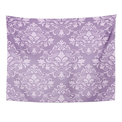 Purple Swirl Tapestry - Breezat Tapestry Purple Vintage Damask Flower Royal Baby Abstract Home Decor Wall Hanging for Living Room Bedroom Dorm 60x80 Inches