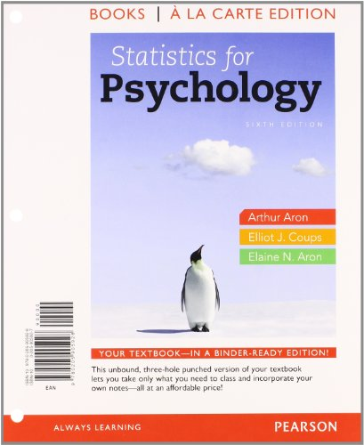 Statistics F/Psychology(Loose) W/Access