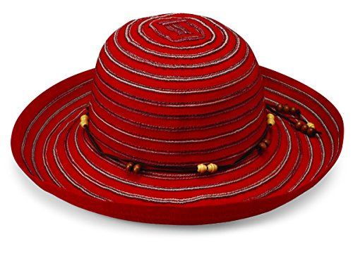 Wallaroo Hat Company Women's Breton Sun Hat - Red - UPF 50+