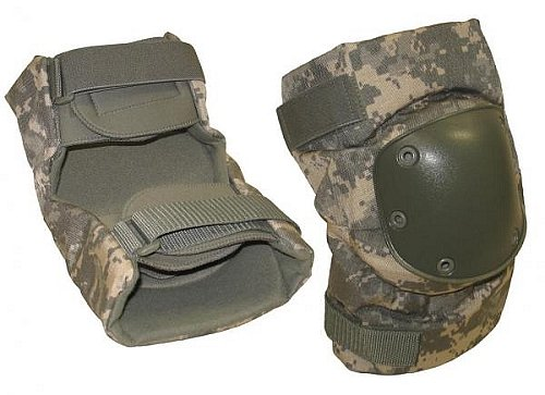 Alta Ind. / BPE Systems ACU Camouflage Tactical Elbow Pads, Large, Official Usage Issue
