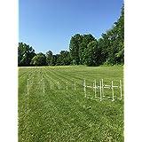 Dog Agility Equipment Deluxe Beginner Set | 3 Bar Jumps | 6 Weave Poles | 1 Octagon Hoop Jump