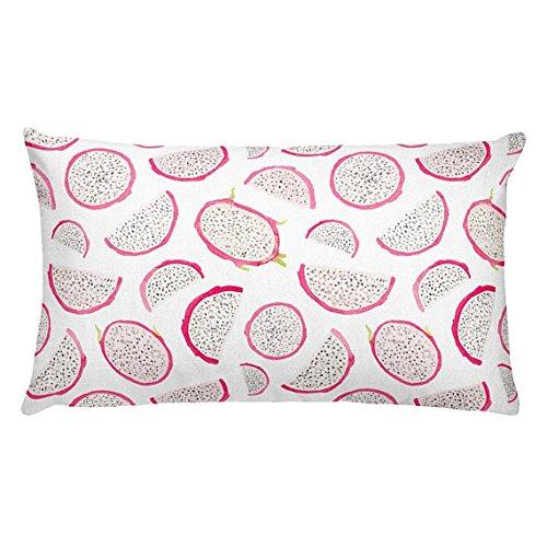 ピンクとブルー花柄装飾枕|モダン長方形枕、祝いギフト、リビングルームの装飾、20 x 12ランバーサポート枕、枕 12x20 inch Pillow cover B07DG5QK77 Flower Set-10