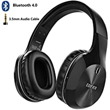Edifier W806BT Bluetooth Headphones, 40mm Driver Wireless Noise Cancelling Headset with Microphone, 70 Hours for Music & Talking, Excellence Sound Experience for Computer, Phones, Pad(Black)