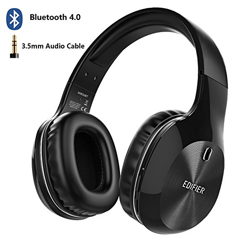 Price comparison product image Edifier W806BT Bluetooth Headphones, 40mm Driver Wireless Noise Cancelling Headset with Microphone, 70 Hours for Music & Talking, Excellence Sound Experience for Computer, Phones, Pad(Black)