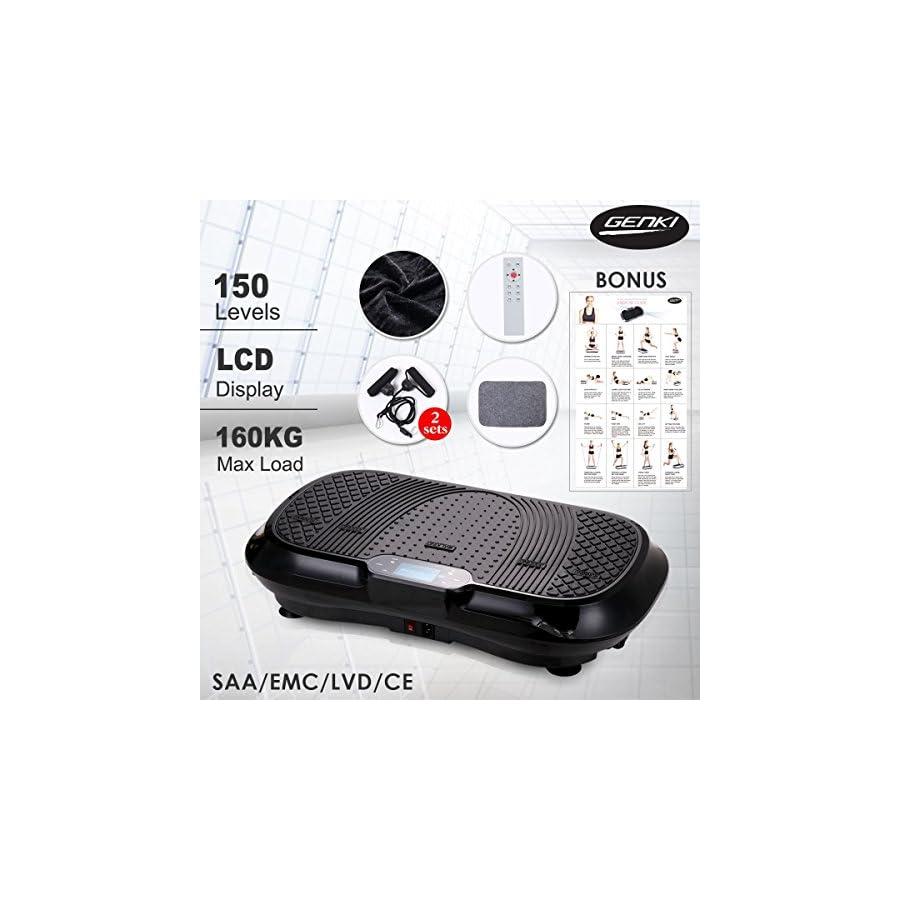 Genki Ultra Slim Vibration Machine Plate Platform Body Shaper Trainer Exercise Fitness, Max User Weight 353LB