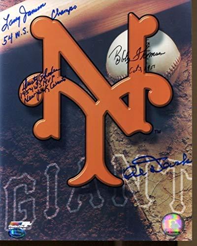 - 1954 NY Giants WS Rhodes Dark Thomson Jensen Signed Photo 8x10 Autographed 40682