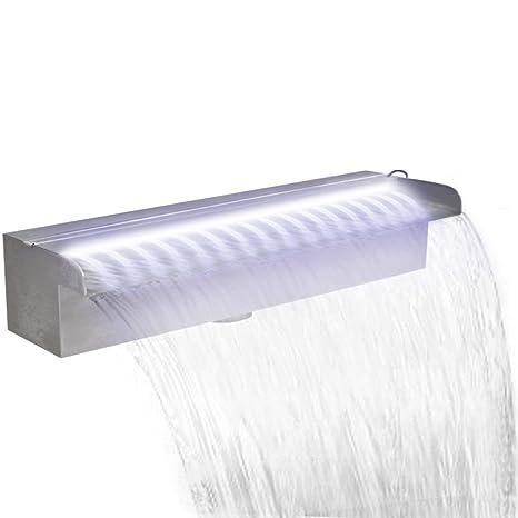 Fuente Cascada Rectangular LED, para Piscina o Estanque ...