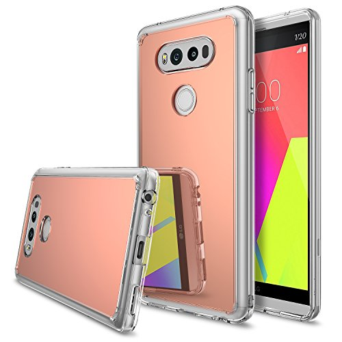 Ringke [Fusion Mirror] Compatible with LG V20 Case Bright Reflection Radiant Luxury Mirror Bumper [Shock Absorption Technology] Slim Stylish Protective Cover for LG V 20 - Rose Gold