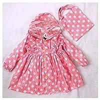 Ksone Polka Dots Child Princess Raincoat Rainwear for Children Kid Girls Baby Rain Coat Poncho Waterproof Trench 90-130cm