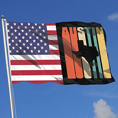 TAOHJS76 Custom Outdoor/Home Demonstration Flag Vintage Austin Texas 100% Polyester Single Layer Translucent Flags 3 X 5