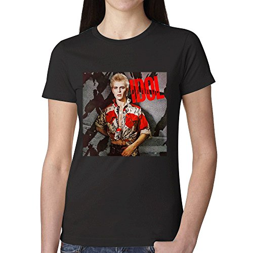 Billy Idol Billy Idol Woman's T shirt Black (Idol Ladies T-shirt)