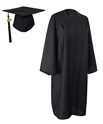 c5cac8aa366cc GraduationForYou Matte Graduation Gown Cap Tassel with 2018+2019 Year Charm  Black
