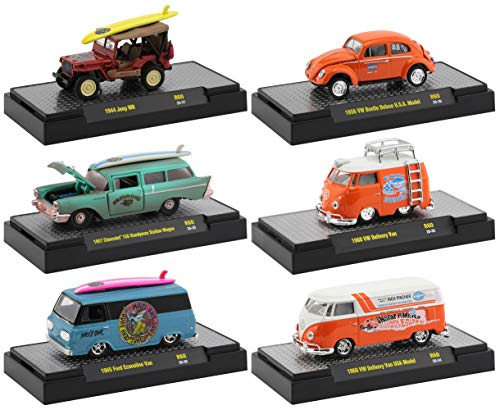 M2 Machines Auto Shows 6 Piece Set Release 60 in Display Cases 1/64 Diecast Model Cars 32500-60