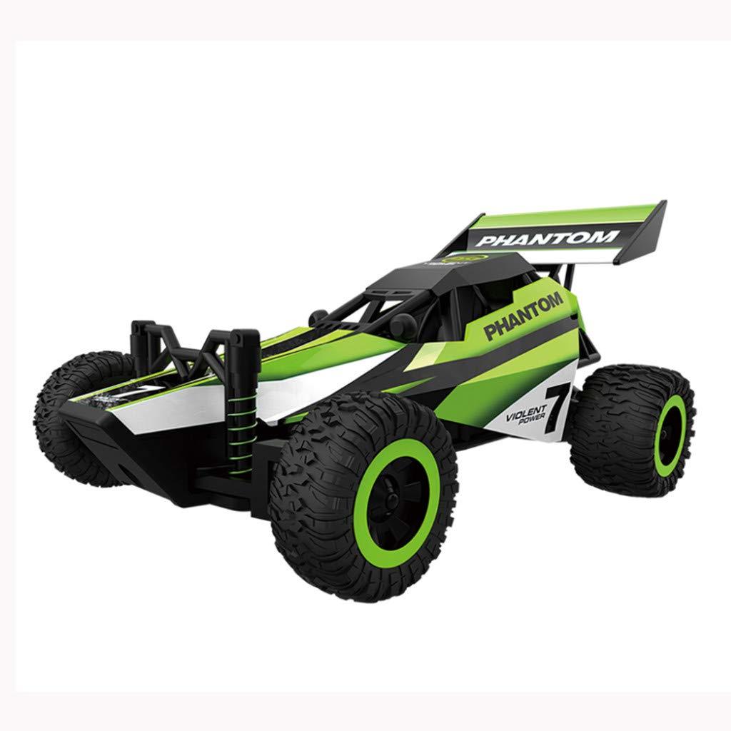 TwoCC Coche Teledirigido,1//32 2.4G 20Km//H Coche De Control Remoto a Gran Escala 2Wd Mini Racing Rc Car Veh/ículo Buggy De Alta Velocidad Rtr Toys Veh/ículo Todoterreno Verde