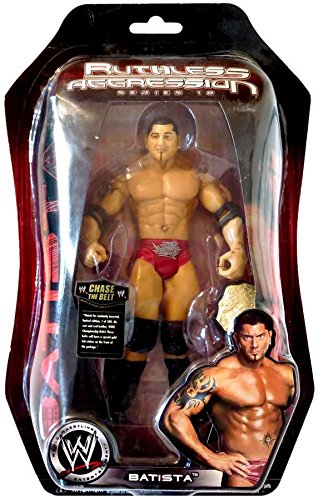 World Wrestling Batista (Jakks Pacific WWE Ruthless Aggression 18 Batista Action Figure with World Heavyweight Championship Belt)