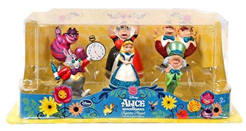 Disney Alice in Wonderland Alice in Wonderland Figurine Playset [Glitter] (Cat On Alice And Wonderland)