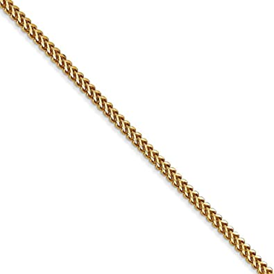 Brilliant Bijou 14k Yellow Gold Solid Polished Franco Chain Necklace