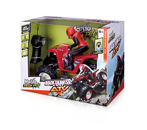 27mhz Toys Radio Controlled - Maisto R/C 27 Mhz (3-Channel) Rock Crawler ATV Remote Control Vehicle (Colors May Vary)