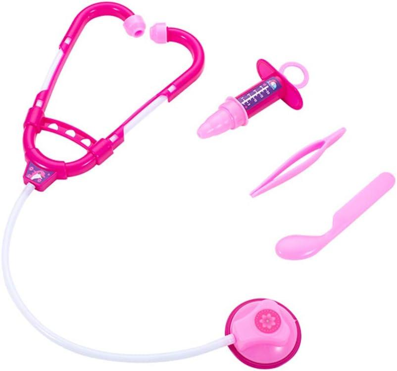 Amosfun Accesorios de Juego de rol de médico para niños Estetoscopio Inyector de Juguete Pinzas Props Doctor Cosplay Toys 4pcs