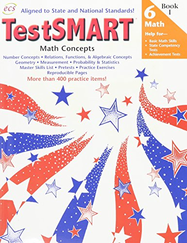 TestSMART for Math Concepts Grade 6: Help for Basic Math Skills, State Competency Tests, Achievement -