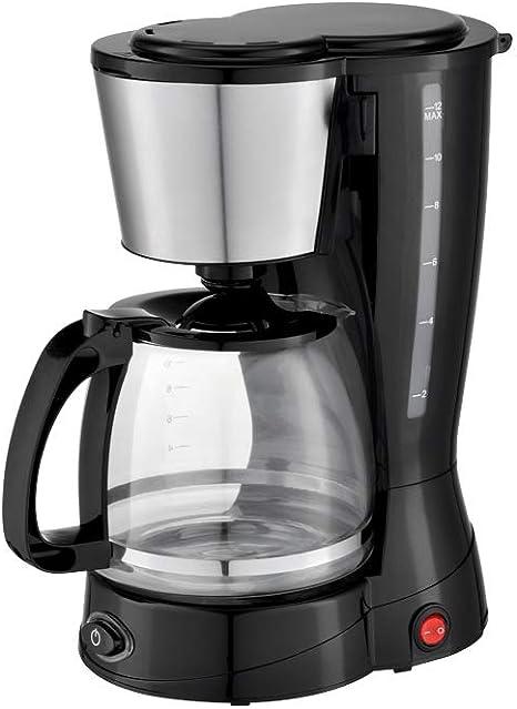 Grunkel - CAF-N Aroma - Cafetera de Goteo con Filtro Permanente y Capacidad para 12 Tazas - 800W - Negro: Amazon.es: Hogar