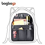bag in bag Shoulders Bag Rucksack Insert Backpack Organizer fit MCM,Black (Large)