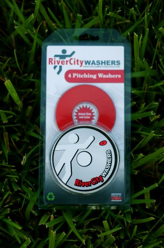 RiverCity Pitching Washers: (4) Red 2.5 Inch Washers