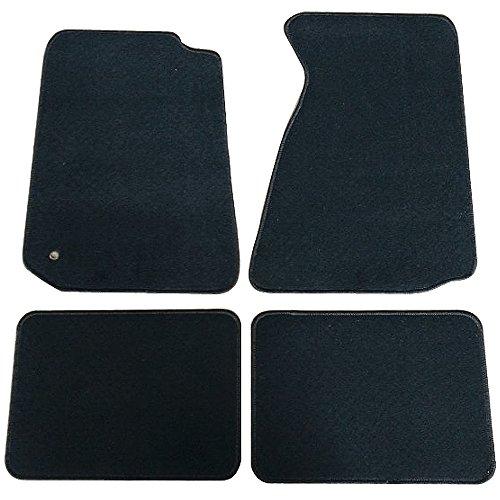 - Floor Mats Fits 1994-1998 FORD MUSTANG | Nylon Black Front Rear Carpet by IKON MOTORSPORTS | 1995 1996 1997