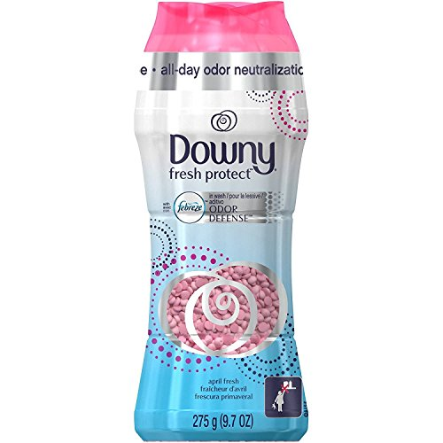 Downy Fresh Protect In-Wash Odor Defense - April Fresh Scent - Net Wt. 9.7 OZ (275 g) Per Bottle - One Bottle (Product Packaging / Designs Vary)