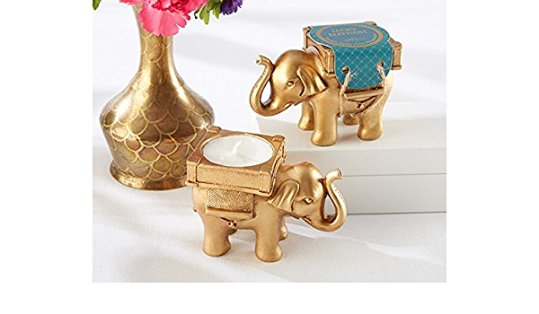 Amazon Com Kate Aspen 100 Lucky Elephant Golden Tea Light Holder Wedding Bridal Shower Baby Shower Birthday Party Souvenir Favors Kitchen Dining Large collections of hd transparent elephant png images for free download. amazon com kate aspen 100 lucky