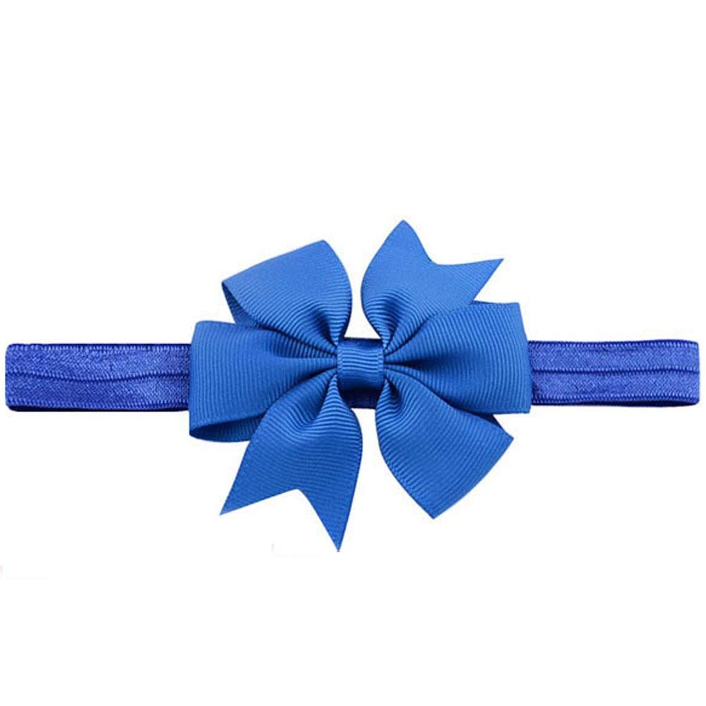 3 Inch Grosgrain Ribbon Hair Bows Headbands for Baby Girls Infants Kids and Toddler 10piece (10pcs Random Color)