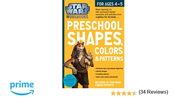 Amazon.com: Star Wars Workbook: Preschool Shapes, Colors, and ...