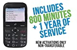 Alcatel Big Easy Plus Prepaid Phone with 800 Minutes and One Year of Tracfone Service + Double Minutes (Phone + 800 minutes + 1 year of Tracfone service + Double minutes)