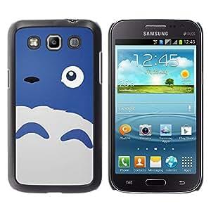 Paccase / SLIM PC / Aliminium Casa Carcasa Funda Case Cover - Happy Cute Monster Blue Sheep Eye - Samsung Galaxy Win I8550 I8552 Grand Quattro