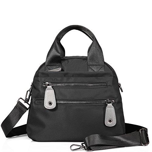 Tote Bag Handbags for Women Shoulder Bag Designer Nylon Purses and Handbags Utility Lunch Bag Waterproof Top Handle Satchel Multi-pocket (Multi Pocket Top Handle Satchel)