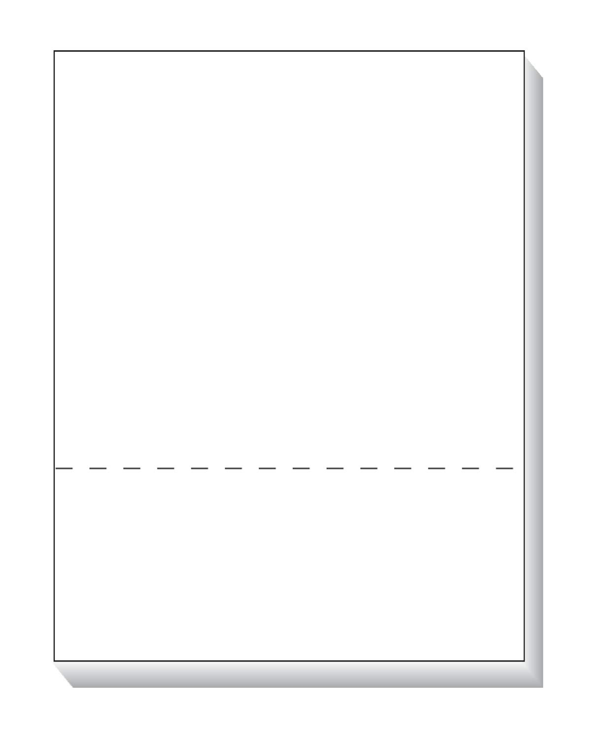 TOPS Laser Cut Sheet Paper, Perforated 3-1/2 Inches from Bottom, 8.5 x 11 Inches, 20 Pound, 500 Sheets, White (05050)