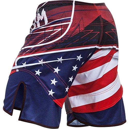 Venum Men's USA Hero Fight Shorts MMA Blue Medium