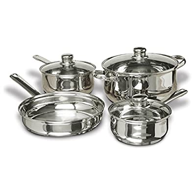 Concord Cookware SAS1700S 7-Piece Stainless Steel Cookware Set, includes Pots and Pans