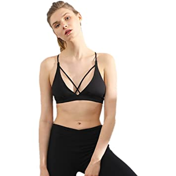 Yamyannie Mujer Bralette Top Yoga Bra Spring Deep V Sports ...