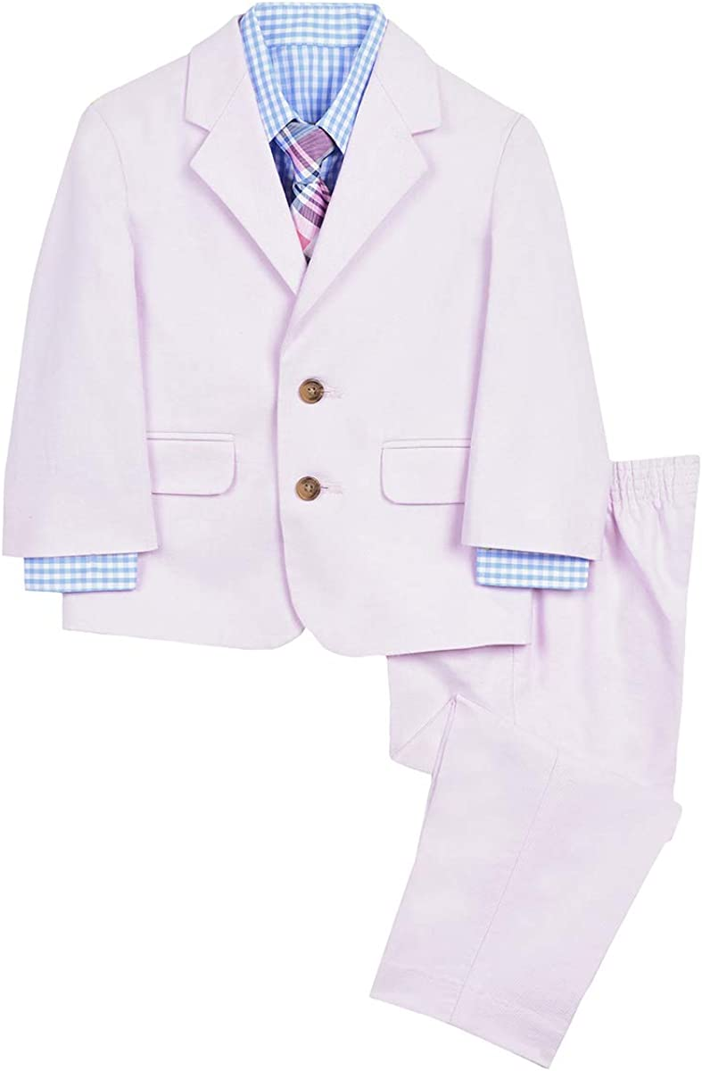 Jacket Nautica Baby-Boys 4-Piece Suit Set with Dress Shirt and Bow Tie Suit Pants