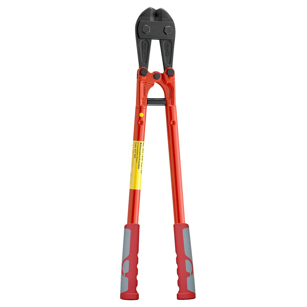 437002 Bolt Cutter 18.11In with Eccentric Screws Red Lacquered