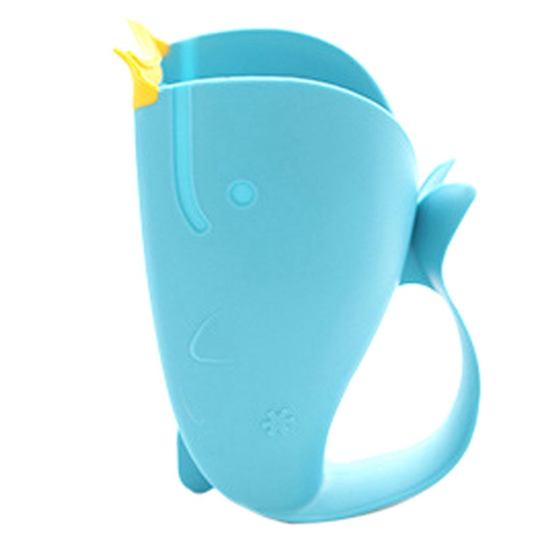 Baby Bath Cap Kids Washing Hair Shampoo Cartoon Whale Cup Children Shower Spoons