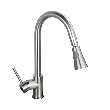 Single Handle Kitchen Sink Pull Out Spray Mixer Tap Faucet, Nickel ...
