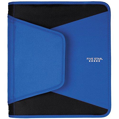 Five Star carpeta de anillas con cierre, Azul
