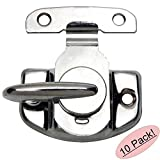 Designers Impressions 53614 Polished Chrome Cam-Action Window Sash Lock and Keeper - 10 Pack