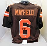 #3: Baker Mayfield Autographed/Signed Authentic Style Browns Jersey Beckett COA